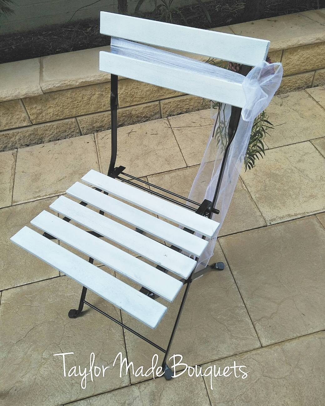 White Foldable Chair $8
