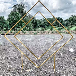 ~ Our new 2m Gold Rhombus Arch now avail