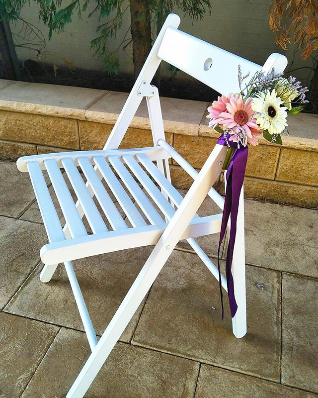 White Wooden Chairs $6 per chair