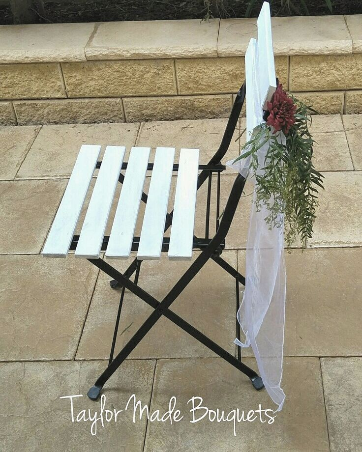 White Ceremony Chair $8