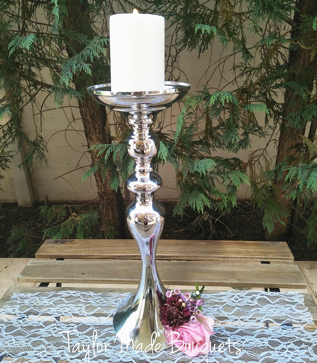 Polished Silver Candles Holders $8