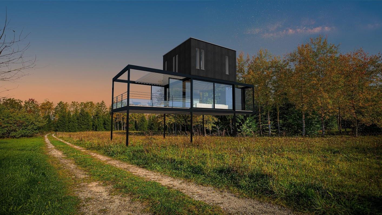 Light House in a field