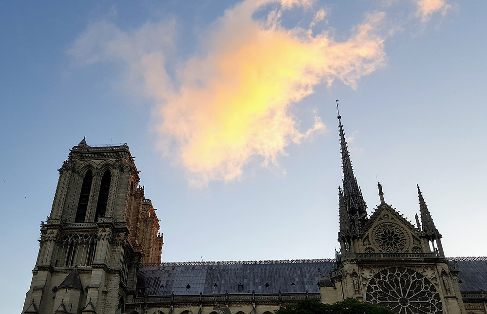 Cloud on fire over Notre Dame
