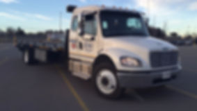 Brian's Towing flatbed towing
