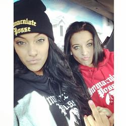 _carleycarllz _sleew22 #ImmaculatePosse #Thugz #hoodies #beanie