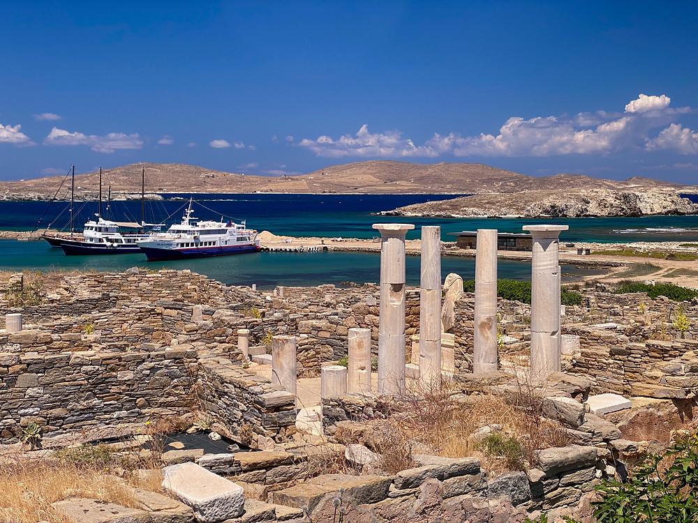 View of the harbor at Delos.