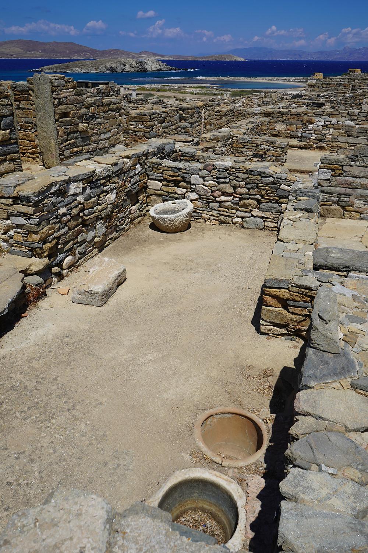 Ruins of an old shop Delos.