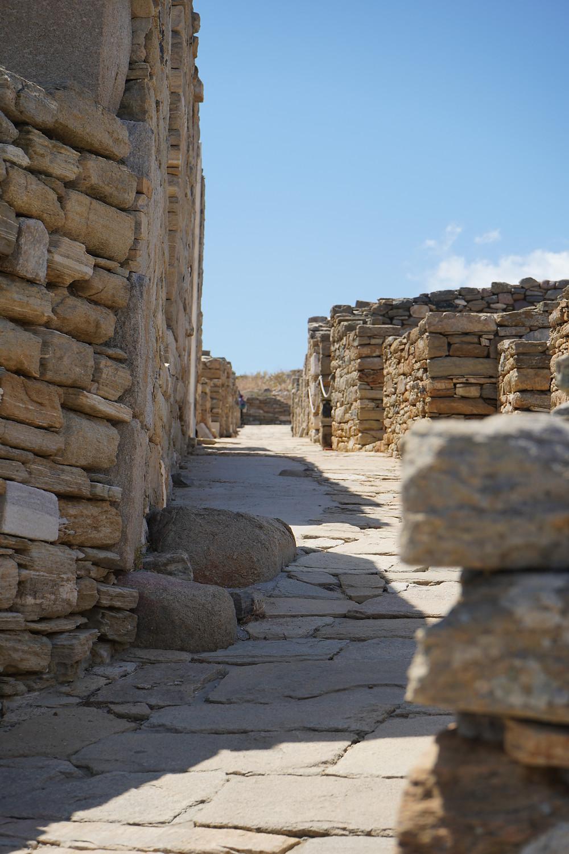 Paved street at Delos.