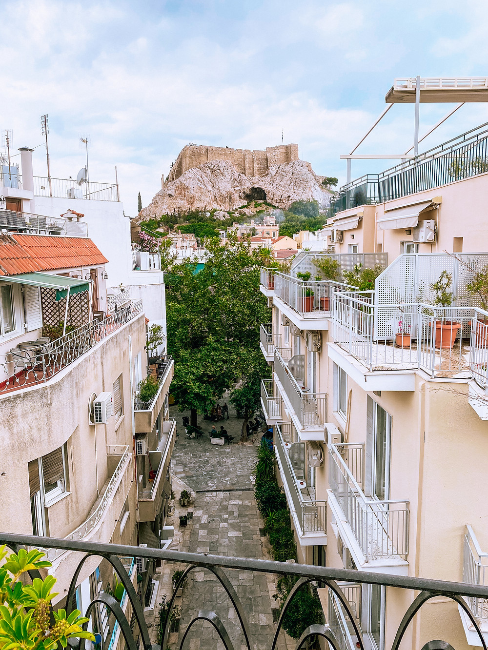 Roof top Terrace with views of the Acropolis, Athens, Greece