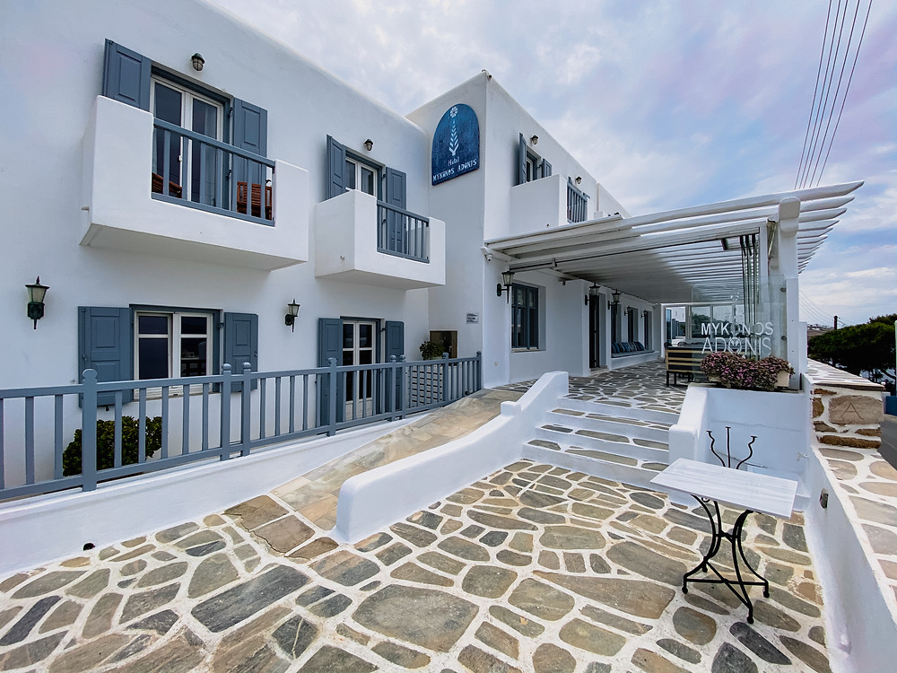 Hotel Mykonos Adonis is a boutique-style hotel and it's been family owned and operated since 1970. Perfectly located within walking distance of the historic center of Mykonos town.