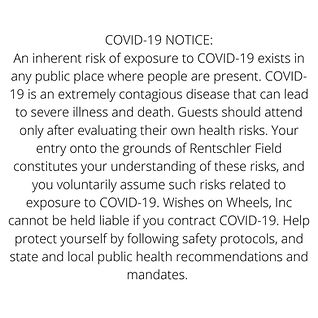COVID-19 NOTICE An inherent risk of exposure to COVID-19 exists in any public place where