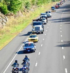 Convoy on the route