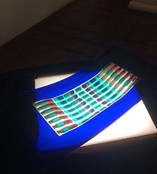 Blue tray by Elen