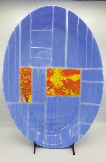 Periwinkle tray oval by Malu
