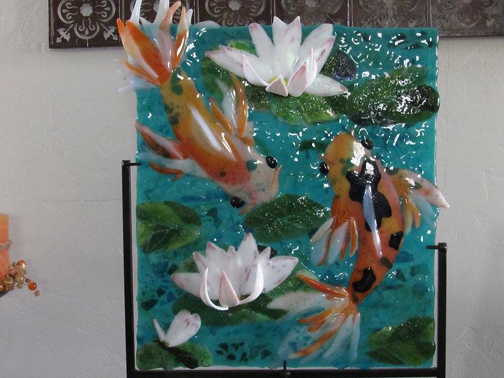 Koi pond. by Malu