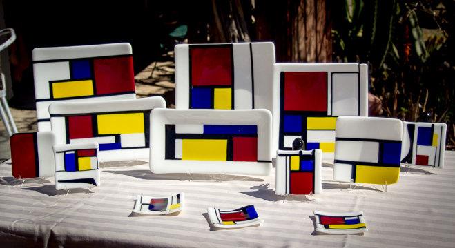 Mondrian set by Elen
