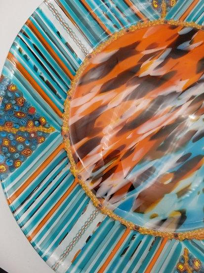 Naranja y azul by Malu
