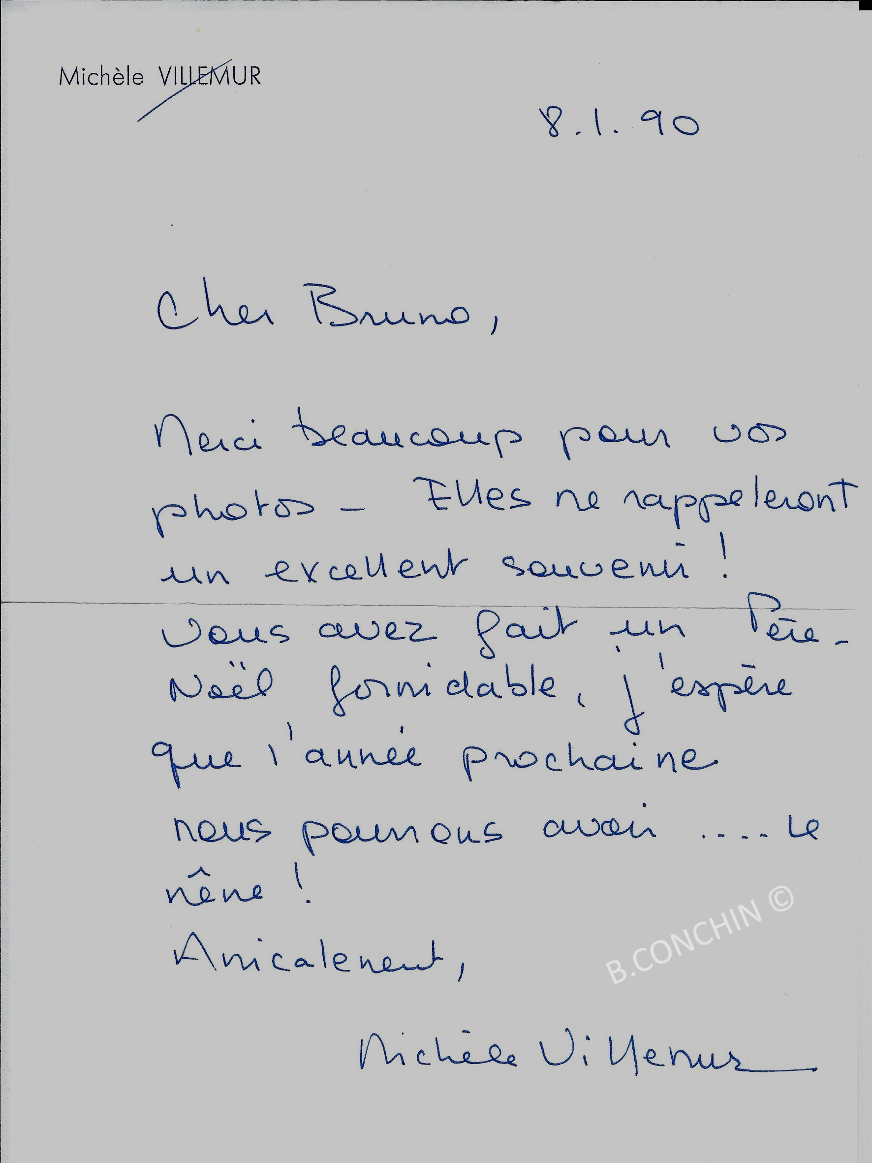 Remerciments Mme Villemur