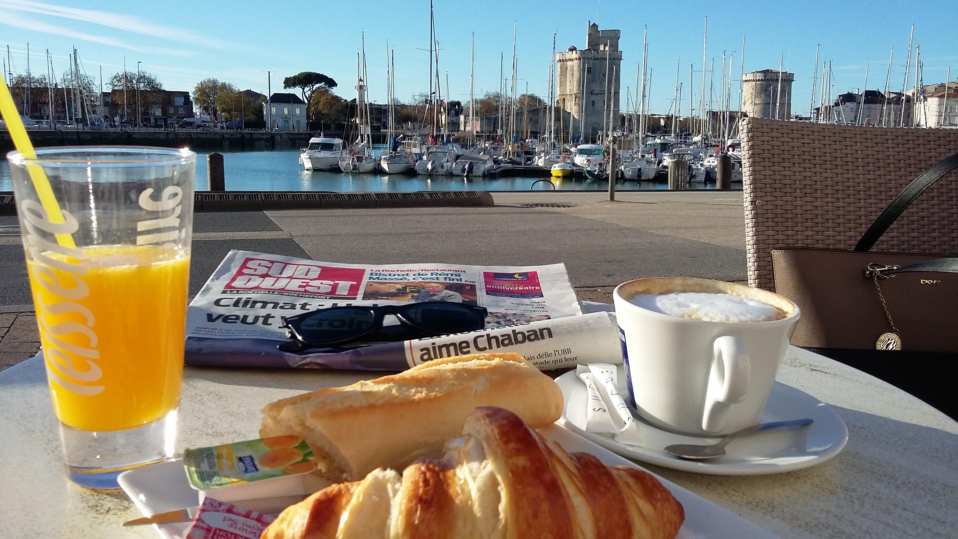 Début de journée sympa à La Rochelle