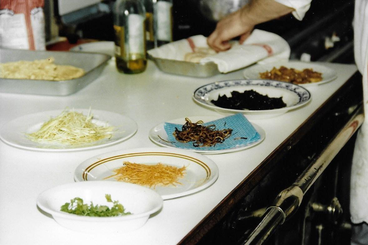 Préparations du déjeuner