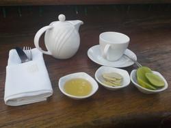 Infusion citron vert miel gingembre