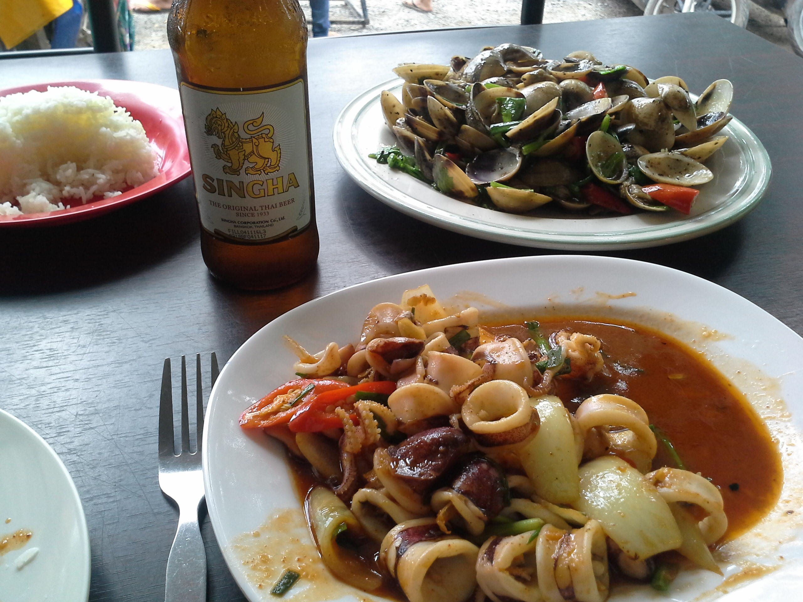 Déjeuner au port de pèche - Phuket
