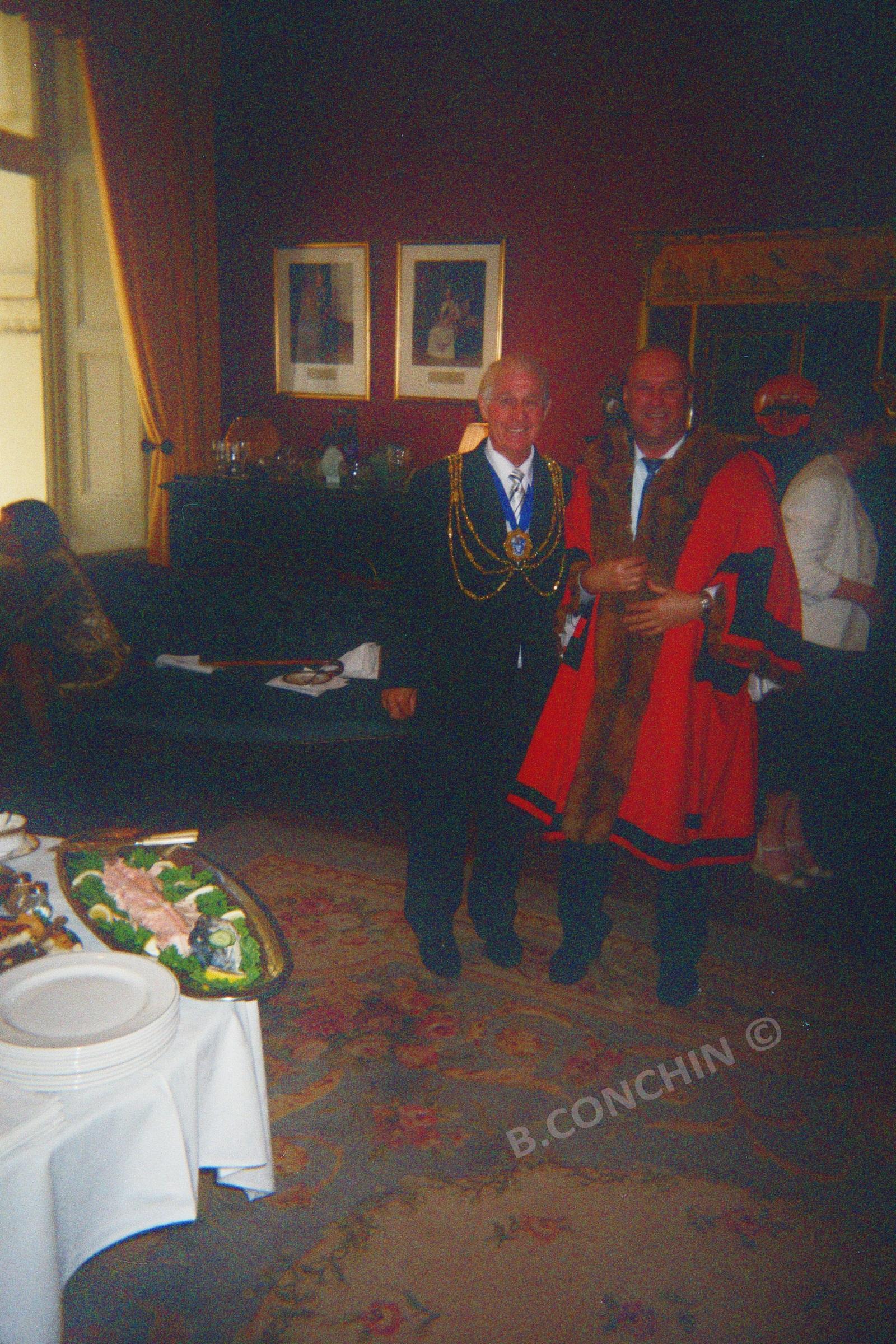 Bruno avec le Maire de Brighton