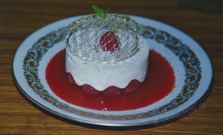 blanc mangé framboise