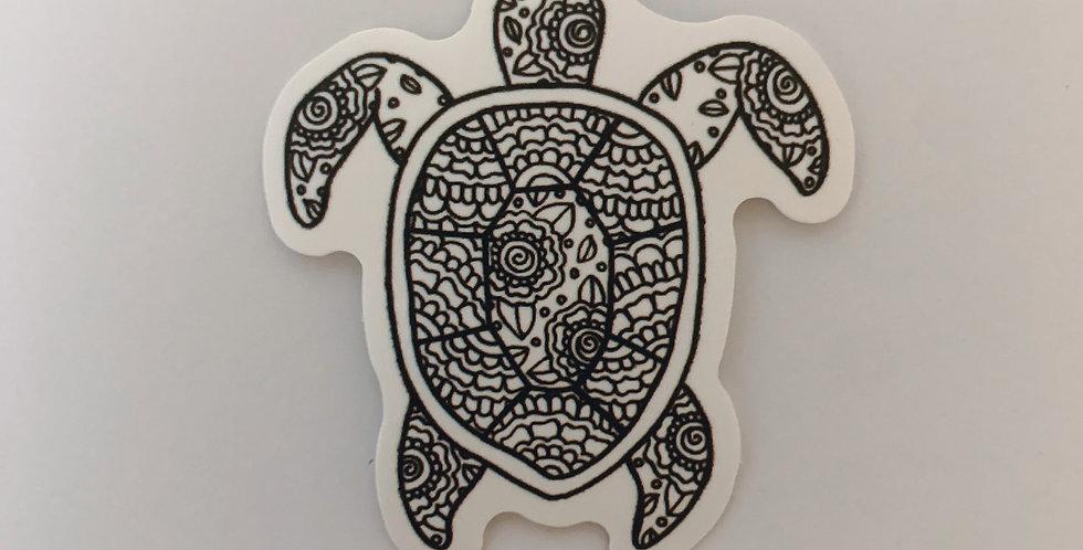 Black & White Turtle