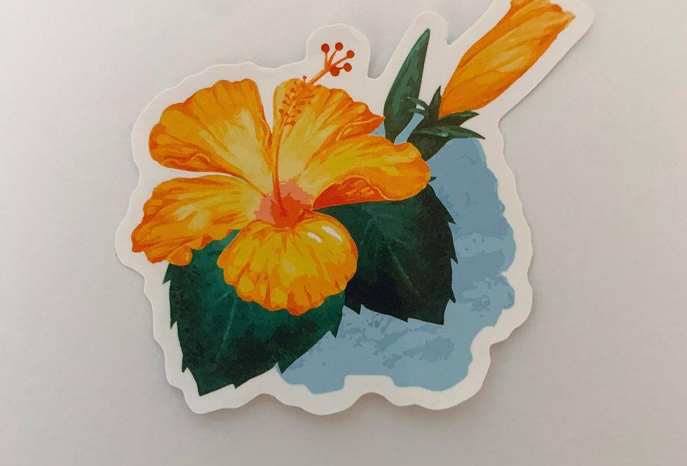 Orange Hawaiian Flower