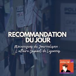 Recommandation : Mécaniques du journalisme