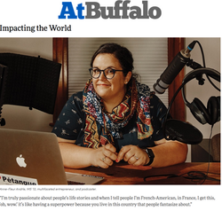 """Impacting the World"": Cover story in ""At Buffalo"", the alumni magazine of University at Buffalo"
