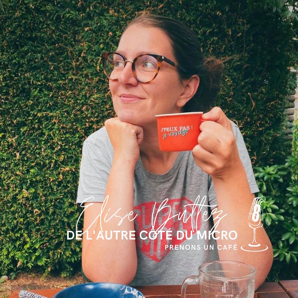 Elise Bultez de l'autre côté du micro dans Génération Podcast, par Anne-Fleur Andrle