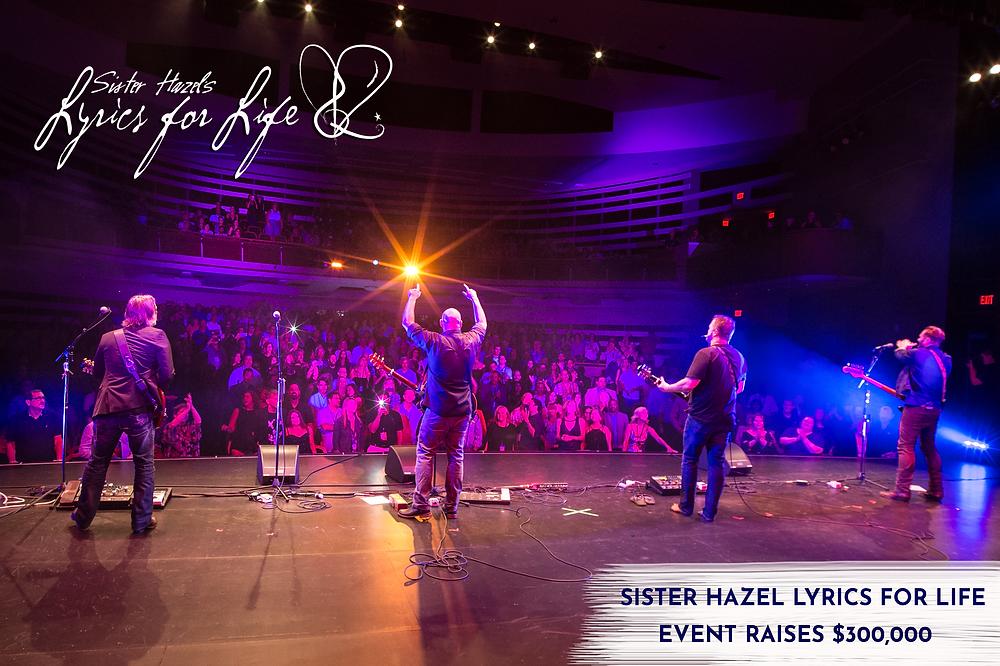 sister hazel s sold out lyrics for life event raises 300k for lyrics for life s camp hazelnut lyrics for life event raises 300k