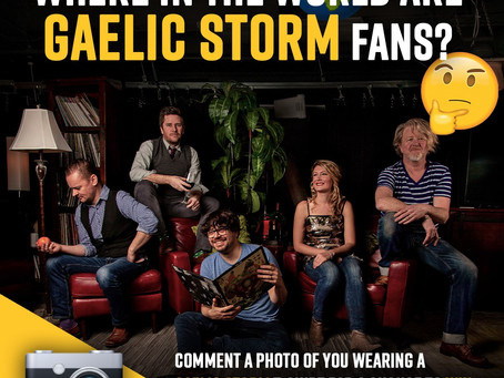 WIN GAELIC STORM CONCERT TICKETS AND MERCHANDISE PACK