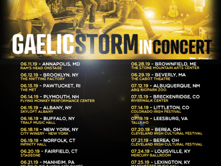 GAELIC STORM ANNOUNCES SUMMER TOUR DATES