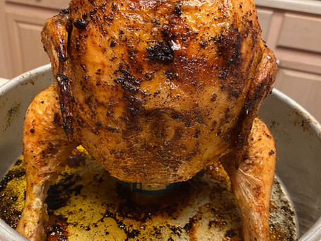 CiderBoys Beer Can Chicken with Grits & Salad Recipe