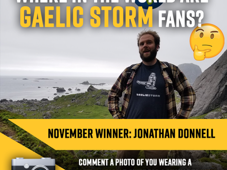 """November Winner Announced for Gaelic Storm """"Where in the world are Gaelic Storm Fans"""" Contest"""