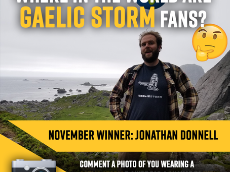 "November Winner Announced for Gaelic Storm ""Where in the world are Gaelic Storm Fans"" Contest"