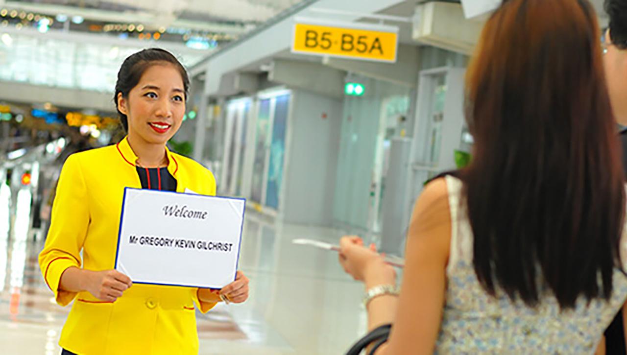 空港にてお迎え