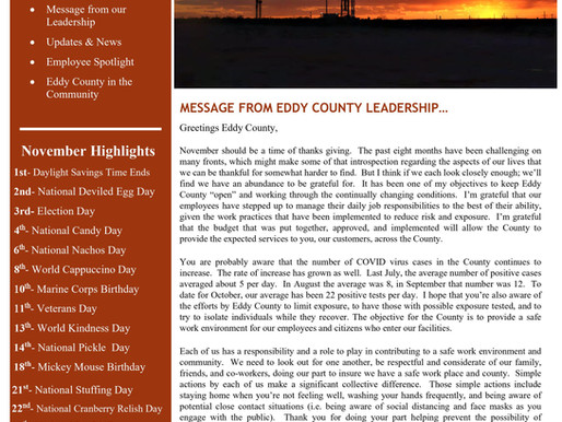 Eddy County News Letter