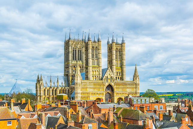 Aerial view of the lincoln cathedral, En