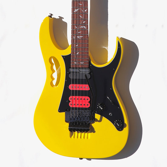 Ibanez JEM Jr Steve Vai With Sustainiac Pro Sustainer Yellow/Pink