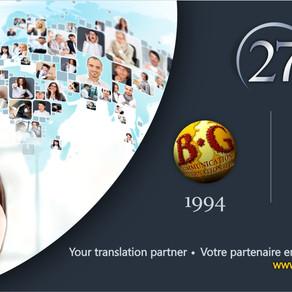 BG Communications celebrates its 27th anniversary