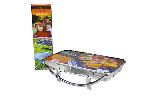 Asado Dual frame instant BBQ chrome metal reusable BBQ stand