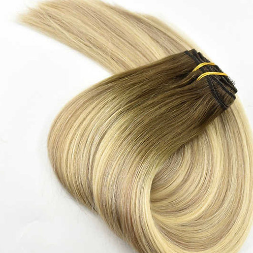 Highlighted Ash Blonde Clip Ins