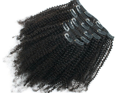 Kali Glam -Natural Kinky Curly Clip In Extensions