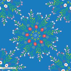 blue floral tile