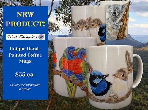 Hand-painted mugs