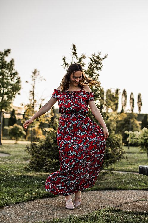Chilufya Cold Shoulder Maxi Dress